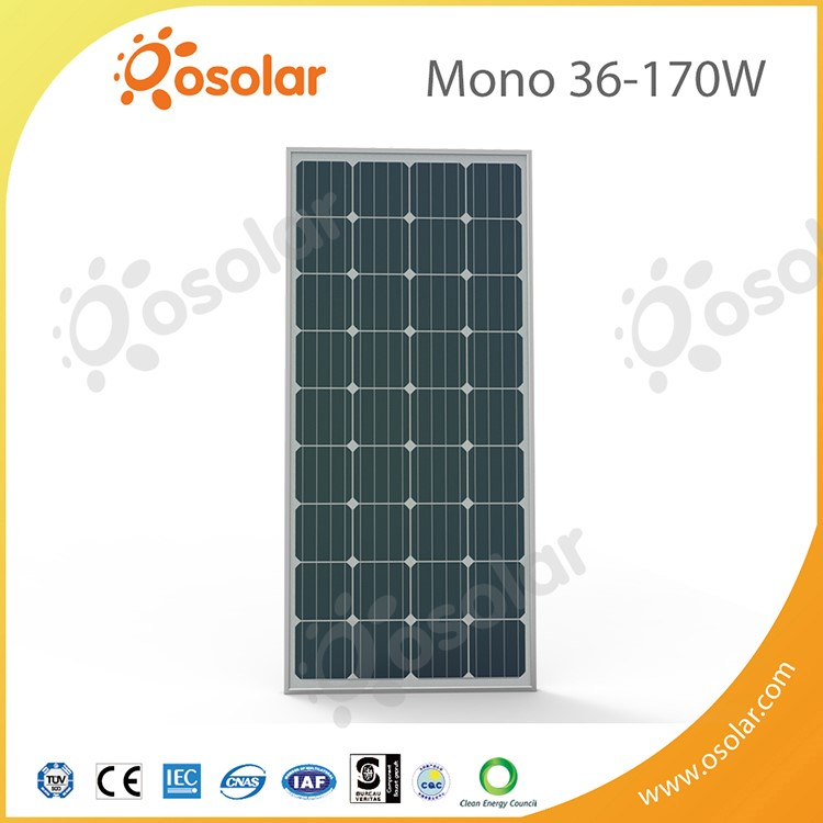 Best Price solar power panels,high performance 36pcs mono silver solar panel with TUV certificate