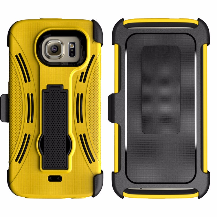 For samsung galaxy s6 phone case rugged 3 in 1 hybrid combo back cover case with removable belt clip bulk buy from china