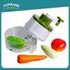 Toprank New Arrival Multifunctional Fruit Vegetable Slicer Chopper Manual Vegetable Cutter With Good Grips Handheld