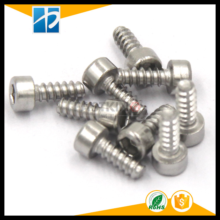 Stainless steel 304 cylinder head hexagon flat tail self-tapping screw