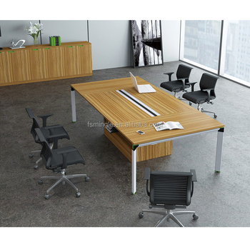 White Color Powder Coated Metal Leg Conference Table / Meeting Table  /meeting Desk With Removable