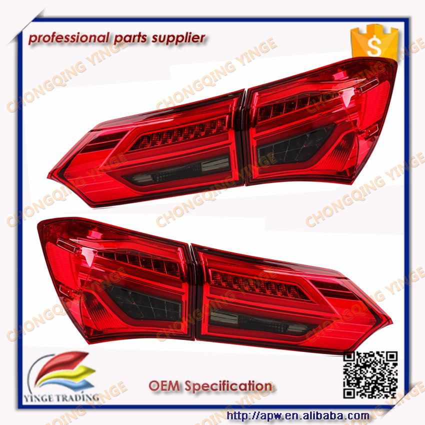 Led Taillight For Toyota Corolla 2014 2015 2016 Accessories Tail Lamp New Design