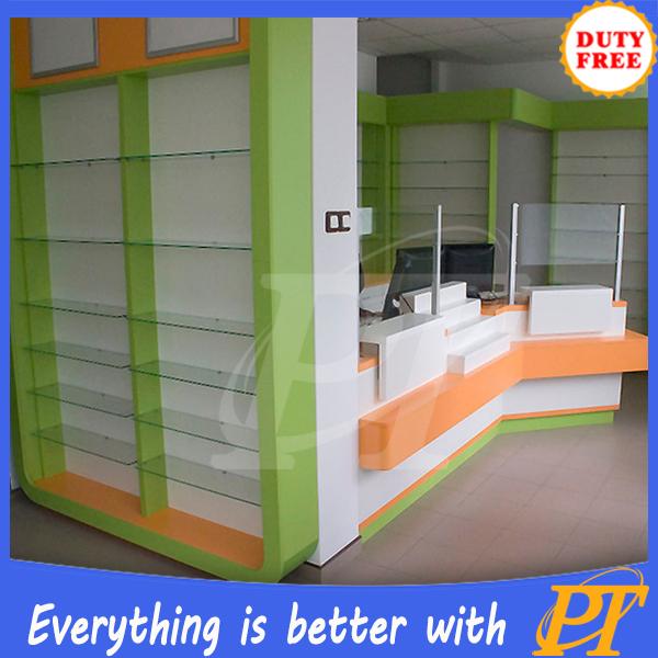 Retail Store Design Job Description: Shelves For Pharmacy,Pharmacy Display Counter Showcase