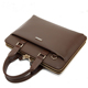 European Luxurious Brown and Grey Leather Laptop Briefcase Bags