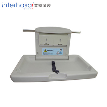Wall mountec plastic folding baby changing station table plastic