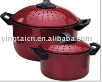 4 pcs Carbon Steel Cookware, Pasta Pot, Spaghetti Pot