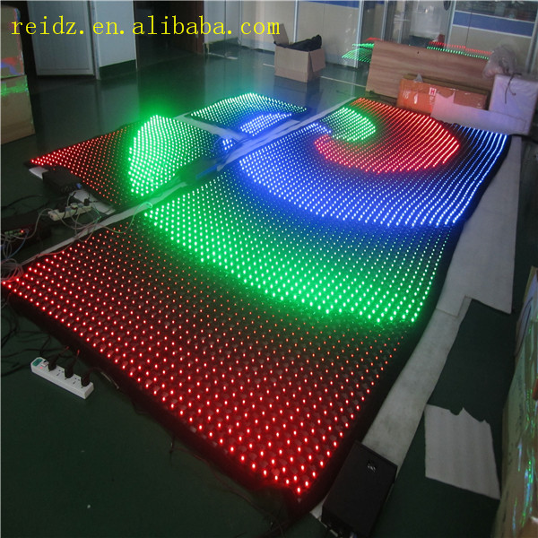 Rgb Led Bulbs Video Display Mesh Fabric Video Curtain Dmx Support ...
