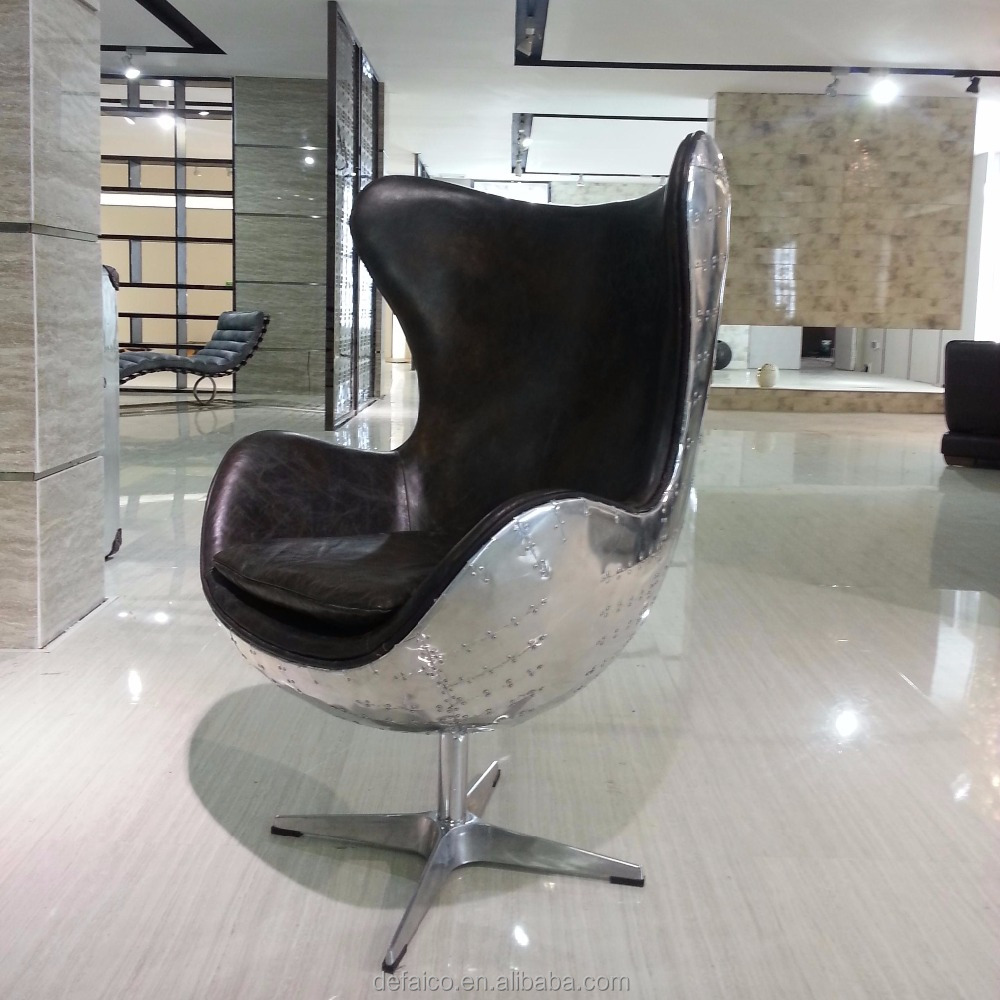 Aviator Aluminum Oval Eye Ball Chair For Home And Hotel