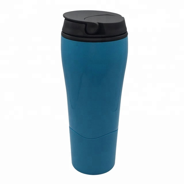 New arrival eco-friendly 16oz insulated magic tumbler mighty mug plastic suction cups with lid
