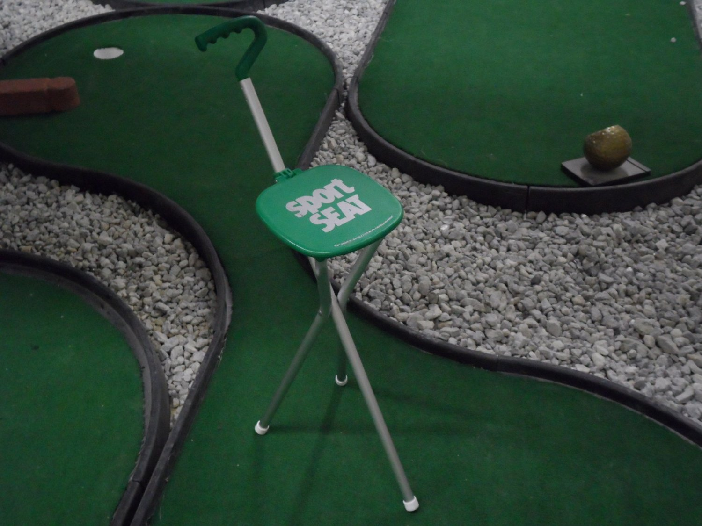 Sport Seat Combo Walking Stick & Seat Great Gift Green