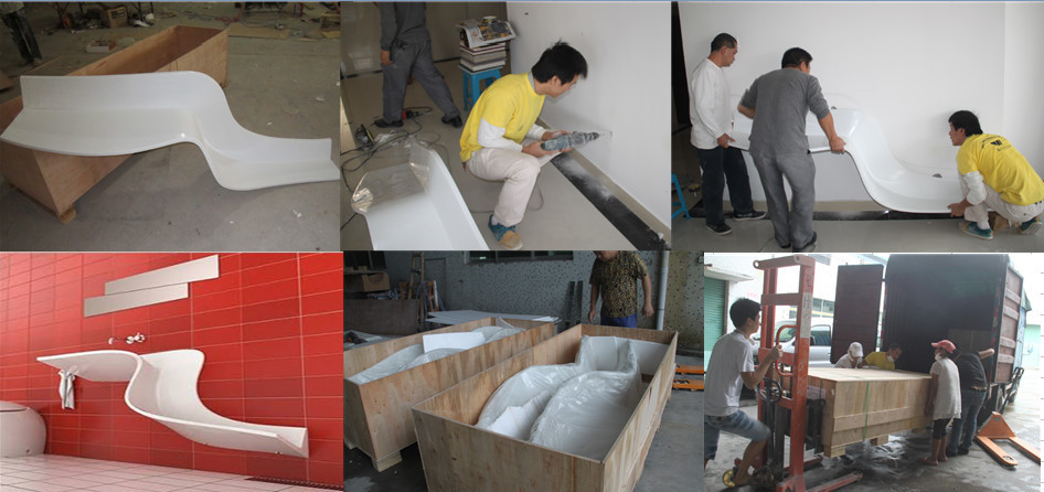 Corian Bathroom Vanity stone hotel countertops,black bathroom vanity,corian stone