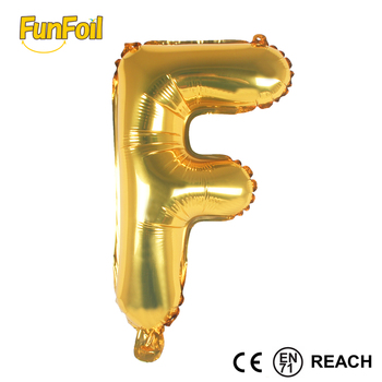16 Inch Letter Balloons Gold A Z Aluminum Foil For Party Decoration Supplies