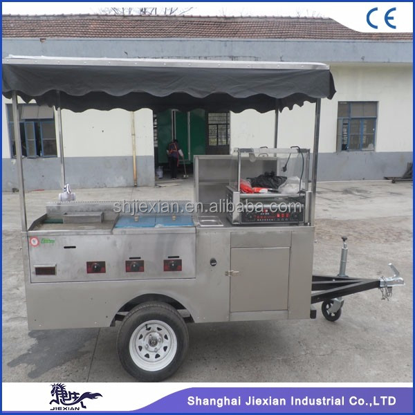 JX-HS200D Hot Dog Pizza Trailer / Bike Hot Dog Trailer / Stainless Steel Electric Hot Dog Trailer
