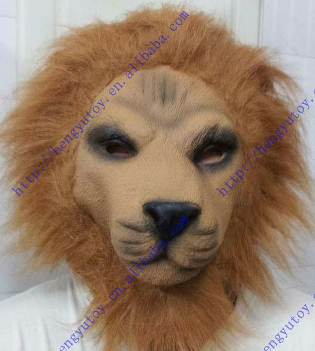 newly wholesaler Easter Costume Animal head party Carnival Halloween Latex lion mask
