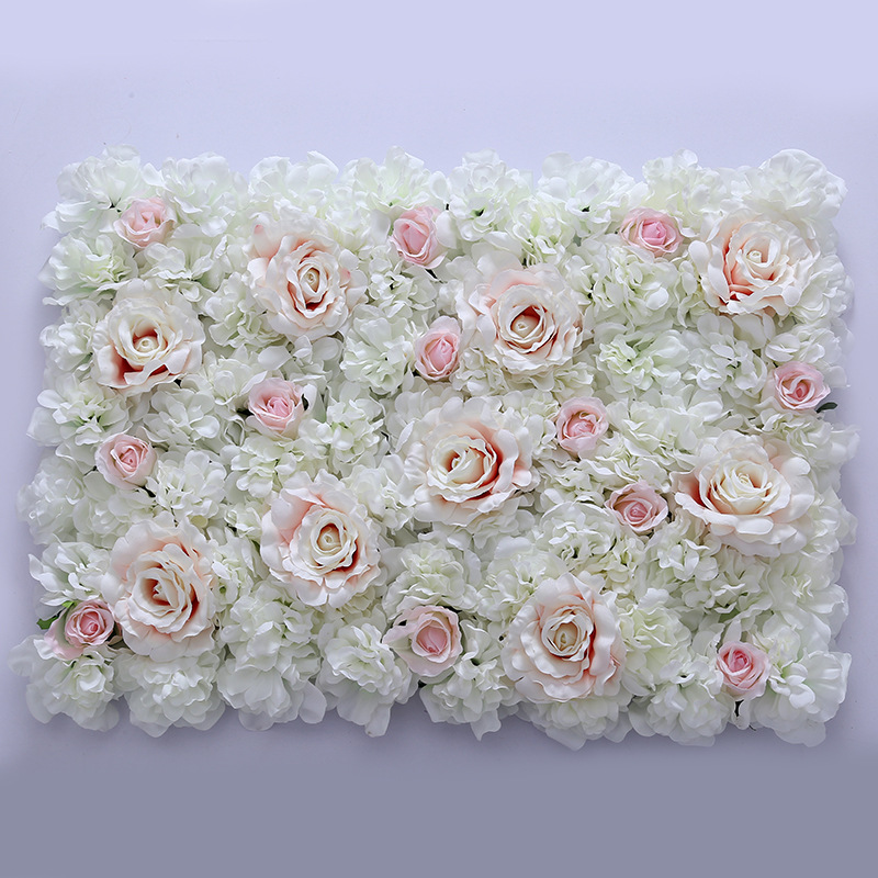 Cero Rose flor pared Panel de seda de flores de la boda Artificial pared para decoración de la boda