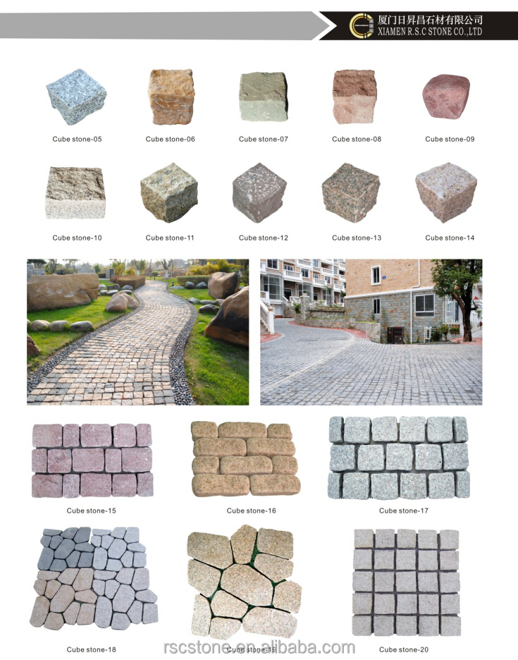 China cheap patio granite paver stones for sale