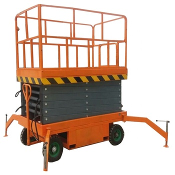 Four-wheel mobile hydraulic lifting platform