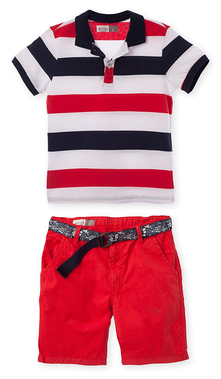 b4cbec575 OFFCORSS Polo Outfits for Boys Shorts Pique Shirt Conjuntos para Niños  Grandes