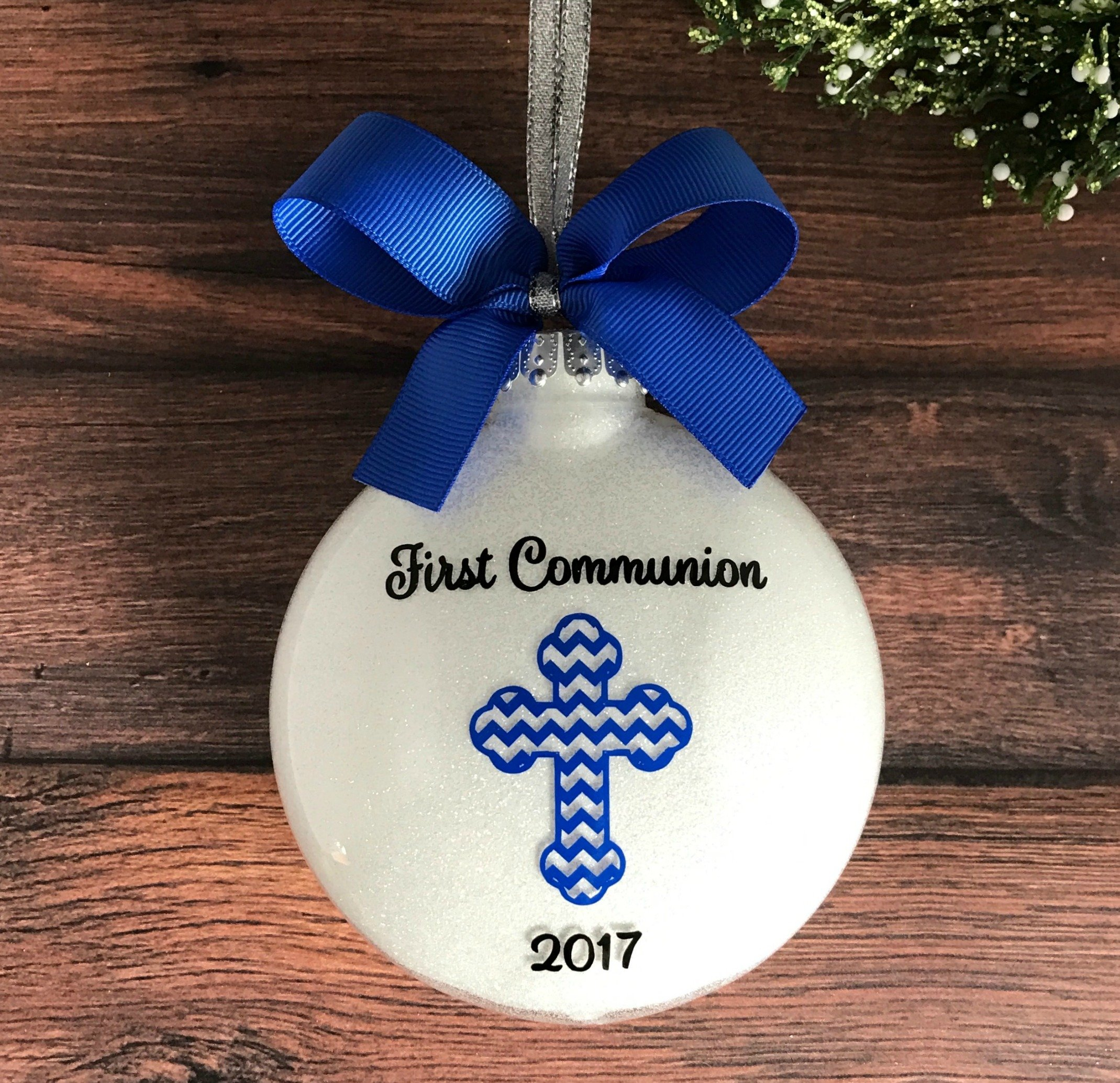 Get Quotations · First Communion Ornament, Personalized First Communion Gifts for Boys, First Holy Communion Gifts