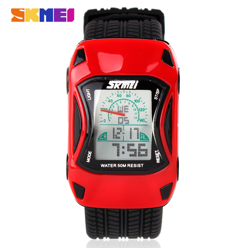 2016 Skmei 0961 LED Digital Cartoon Watch 50m Waterproof Dive Swim Sport Children Watch Jelly Silicone Kids Watch Relogio reloj