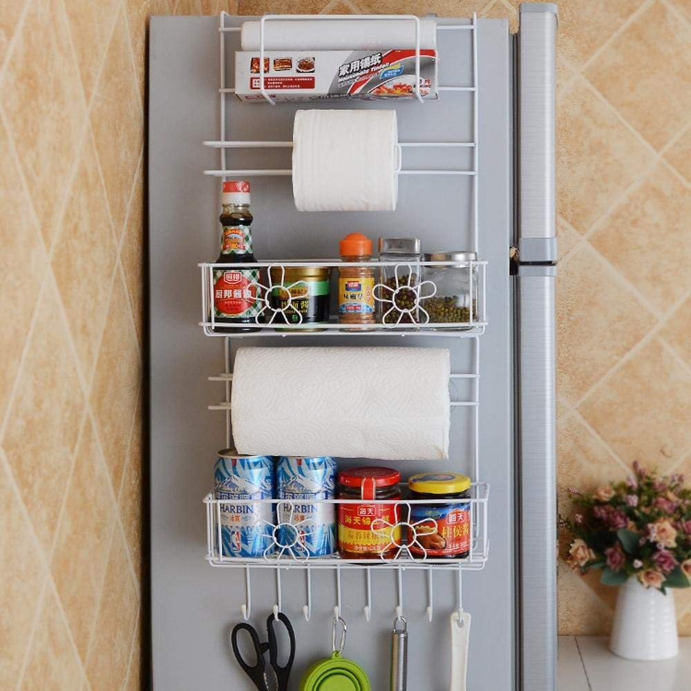 Jingzou Kitchen multi-purpose refrigerator pallets cling film or tissue refrigerator side shelves storage shelves
