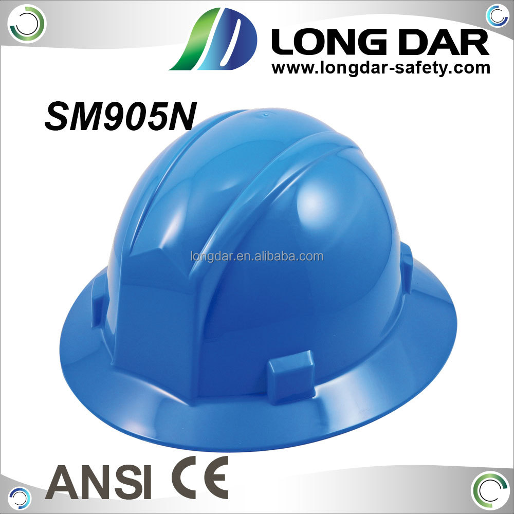 Full brim high all day comfort density industrial PP shell safety helmet