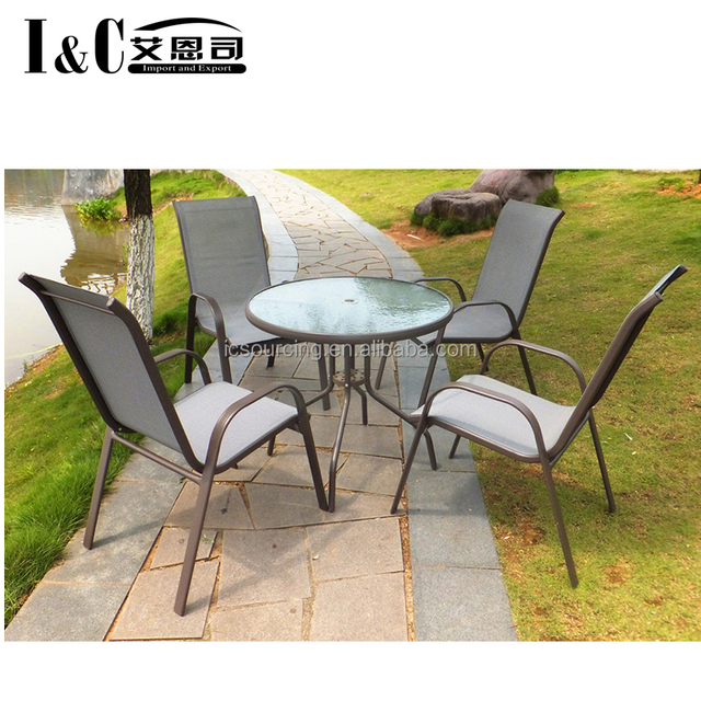 5PCS outdoor garden furniture table and chair patio set