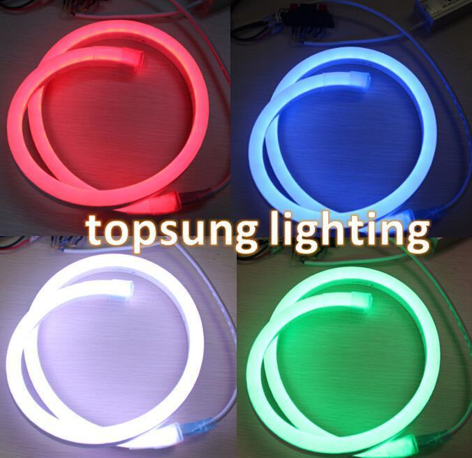 Pretty 24v digital addressable pixel led neon strip light Color Changing Topsung Lighting