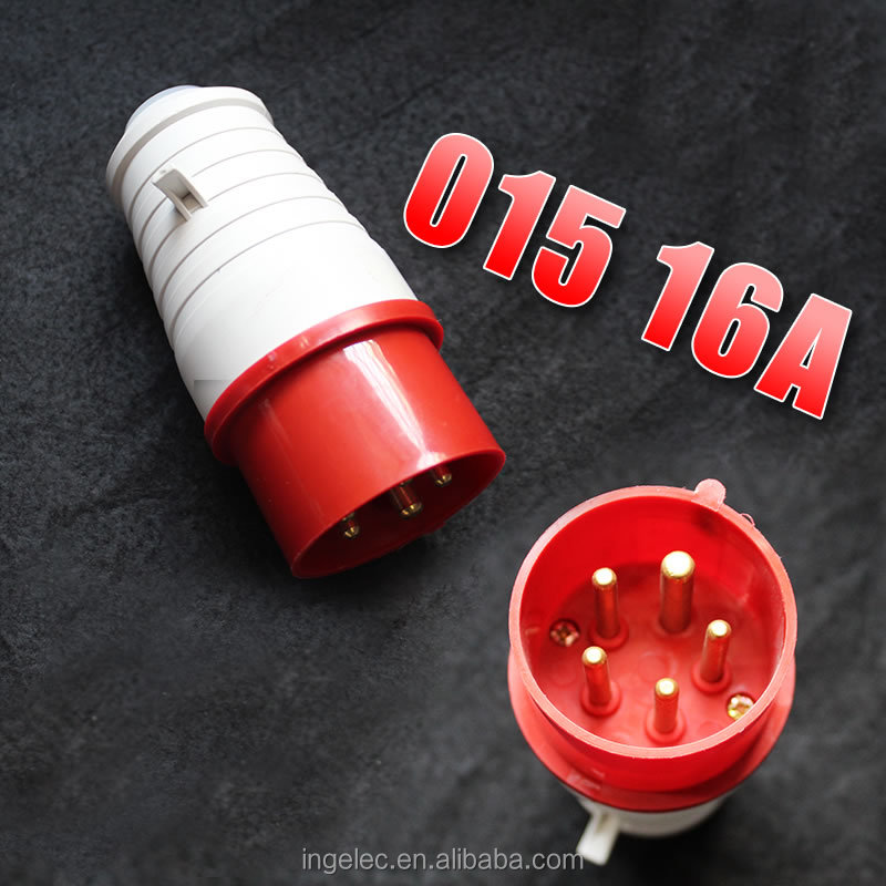 Wholesale 220v 32a 5 pin industrial plug socket ip44 32 amp male and female industrial plug
