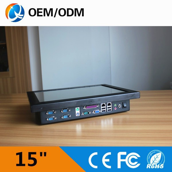 "15""alibaba china latest computer hardware all in one pc with 5 x COM"