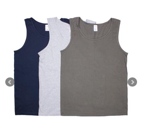 95% cotton 5% spandex custom blank men tank top