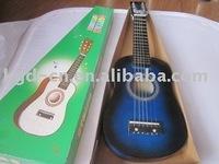 Blue kid 6 string guitar music instrument