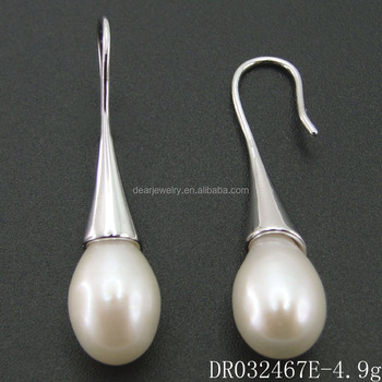 Whole Single Fresh Water Pearl Drop Earring Freshwater Designs For Fashion Woman Jewelry Dr032467e