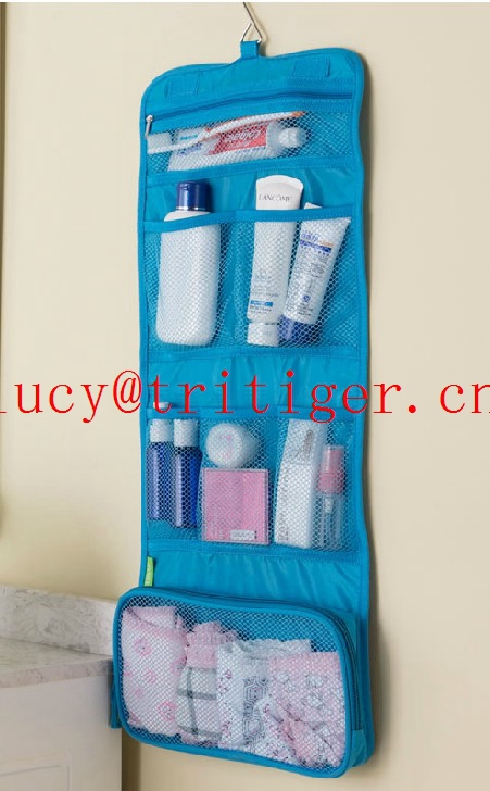 Shower Bag cosmetic bag camping travel fold-up toiletry bag cosmetic wash