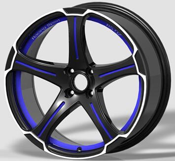 Aluminium Alloy Wheels 5 Spoke After Market Fashion Design 15 Inch ...
