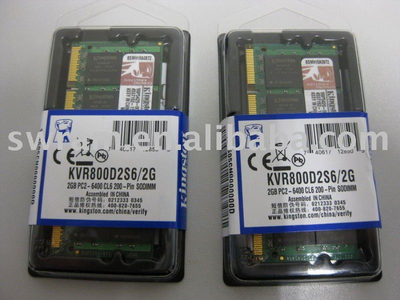 Notebook DDR2 800MHZ/667MHZ 1GB/2GB RAM Memory