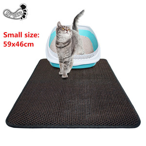 Small size 59x46cm Premium Cat Litter Mat,Traps Litter from Box and Paws, Best Scatter Control,Easy to Clean, Durable