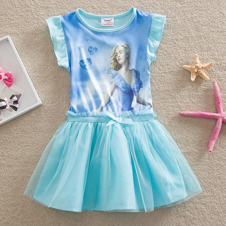 2015 New Tutu Dress Baby Dress Elsa Same Paragraph Summer