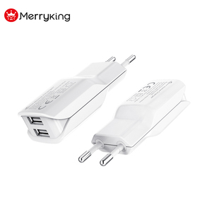 5V 2.1A 2A 1A Dual USB Wall Charger Cell Phone Charger from marryking factory price
