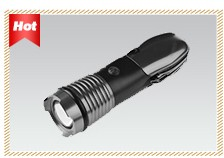 Promotie factory supply oplaadbare led zaklamp dynamo en solar led zaklamp