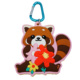 high quality custom 3D soft pvc squirrel carabiner keychain with mirror