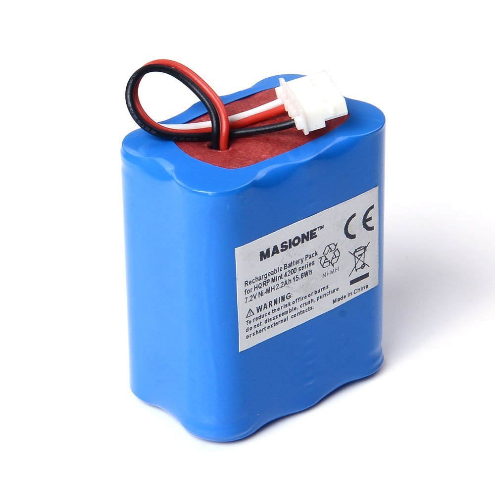 Masione Mint 4200 4205 Replacement Battery for iRobot Braava 320 321 4408927 7.2v 2200mAh Ni-Mh