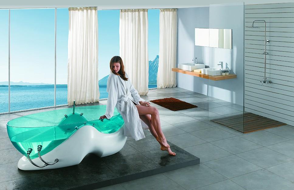 Vasca Da Bagno Trasparente : 2017 di alta qualità massaggio vasca da bagno bagno di colore blu