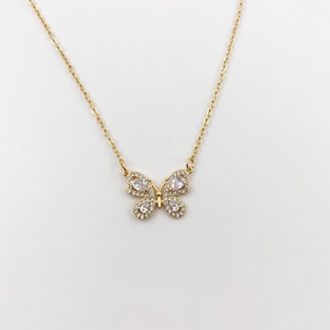 Refiny Jewellery butterfly gold filled accessories jewelry necklace