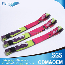 Environmental disposable wristband slide lock woven wristband with personal brand or logo