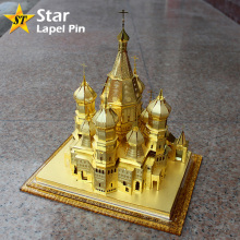 DIY Tourist Attraction Russia Red Square Basil Cathedral 3D Brass Model