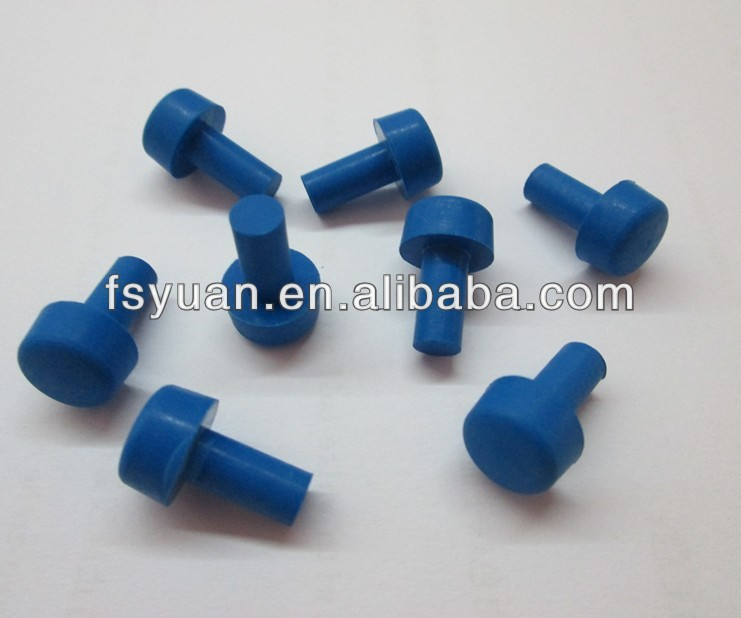 Red silicone rubber pipe stopper plug epdm nbr cone hole