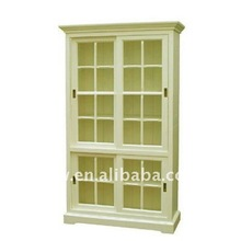 Wh-4038 bianco <span class=keywords><strong>francese</strong></span> di quercia alta <span class=keywords><strong>libreria</strong></span> <span class=keywords><strong>libreria</strong></span> vetro