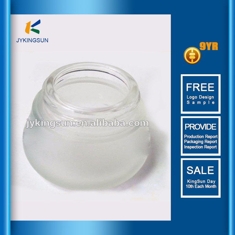 High quality custom excellent for sell screw cap frosted wholesale glass cosmetic bottle