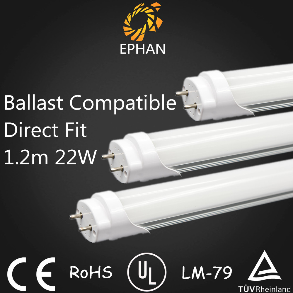 Ephan UL DLC Ballast Compatible 2835 T8 LED Tube High Lumen